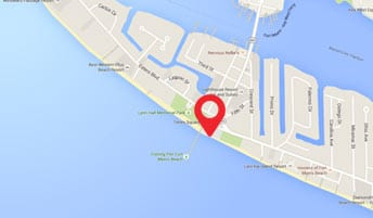 Map of Pierside Grill's location